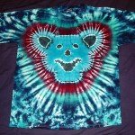 tie dye, tie-dye, tie dyed, tie-dyed, shirt, bear, grateful dead, dancing