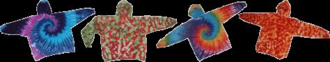 tie-dyed hoodies