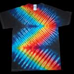 tie dye, tie-dye, tie dyed, tie-dyed, zipper, rainbow, shirt