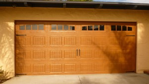 Amarr Oak Summit light stain Steel Door