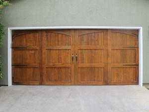 Custom wood door arch solid top with Watertables