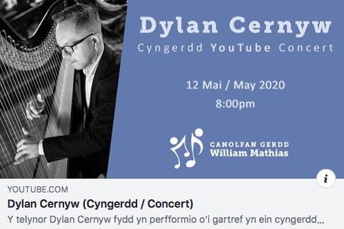 Online Concert Canolfan Gerdd William Mathias 17.05.2020