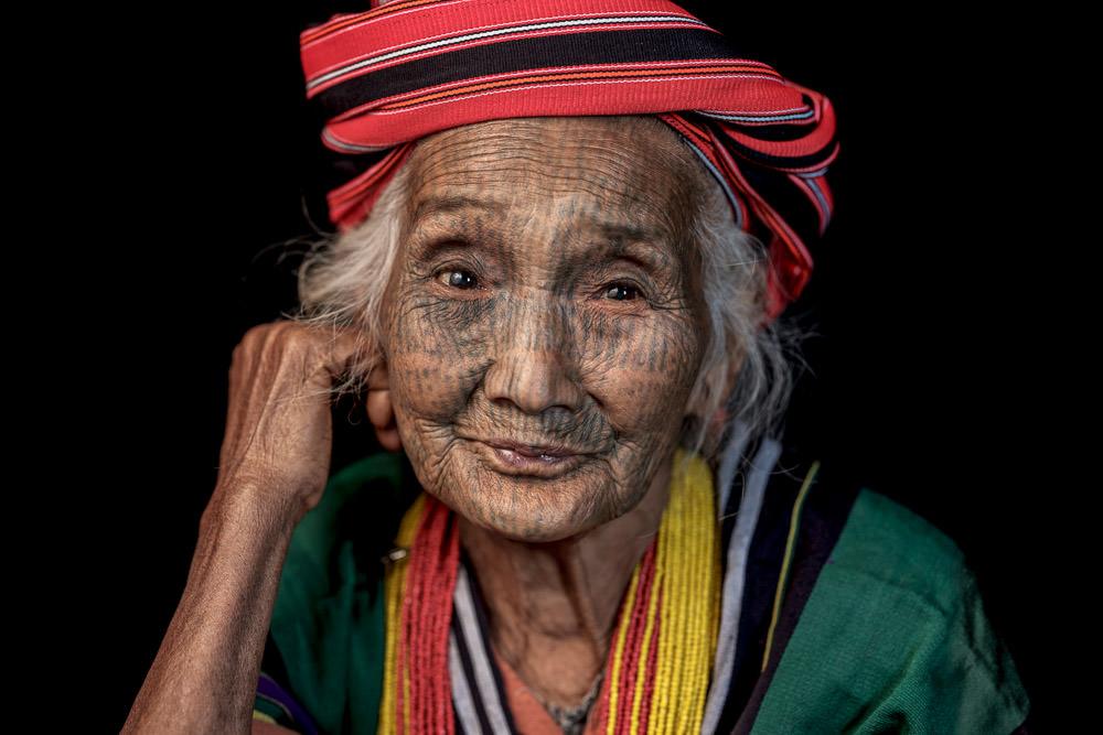 Myanmar Tattoo-faced Woman Shen Har