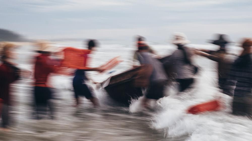 Fishing Village Chaos - Slow Shutter