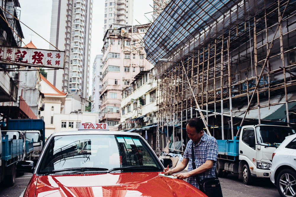 Hong Kong Red Taxi