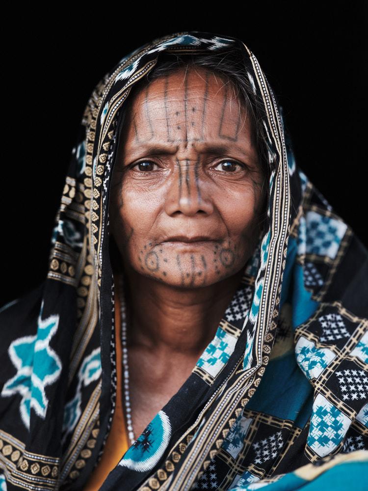 Kui (Kutia Kondh) Woman with Facial Tattoo, Odisha, India