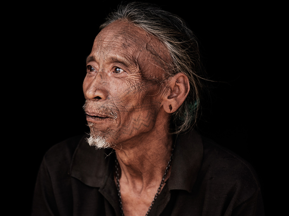 A portrait of a Wancho Headhunter
