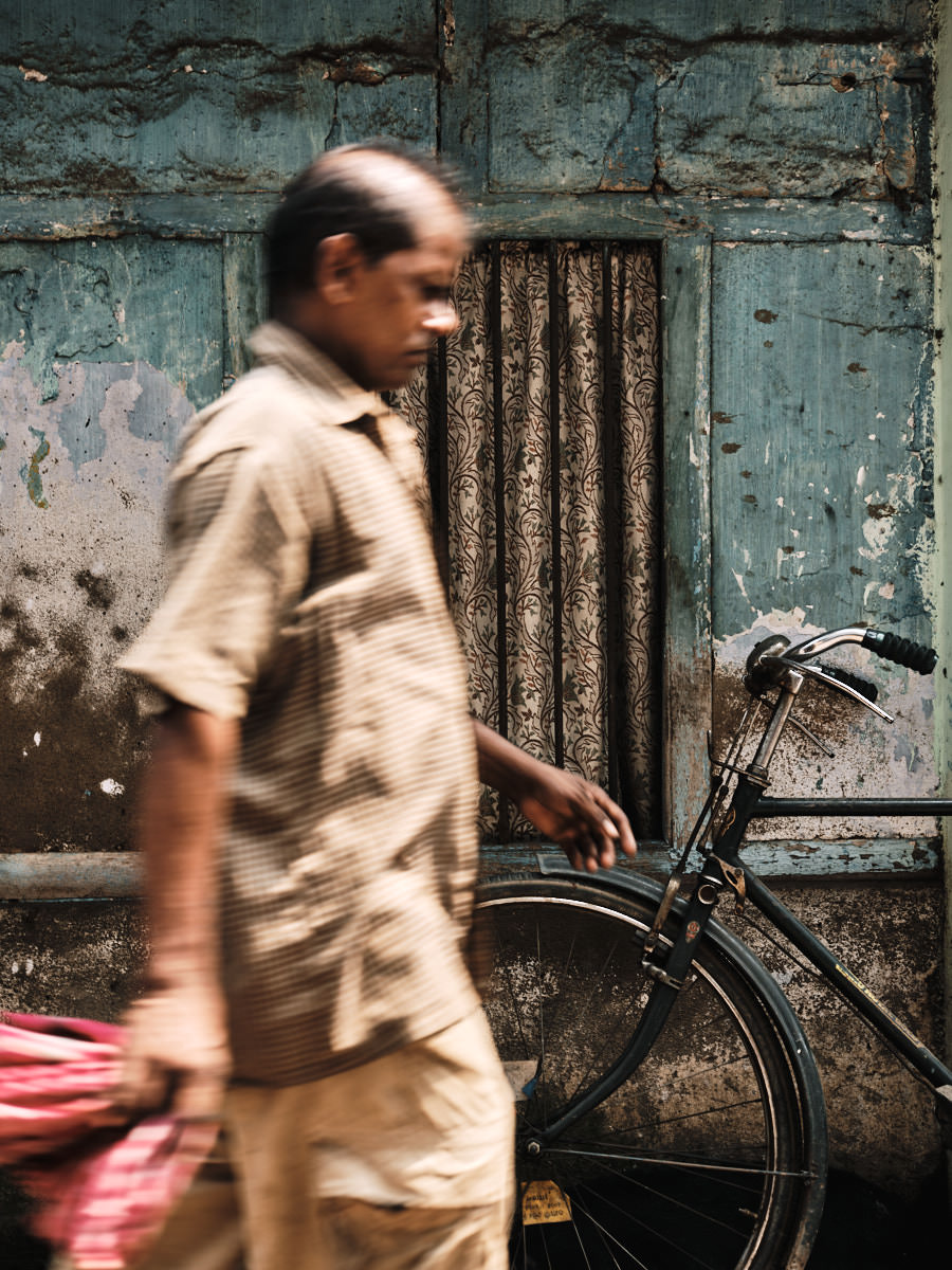 Man and Bicycle - Guwahati, India