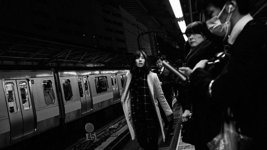 Crowds at Shinjuku Station - Tokyo Trains