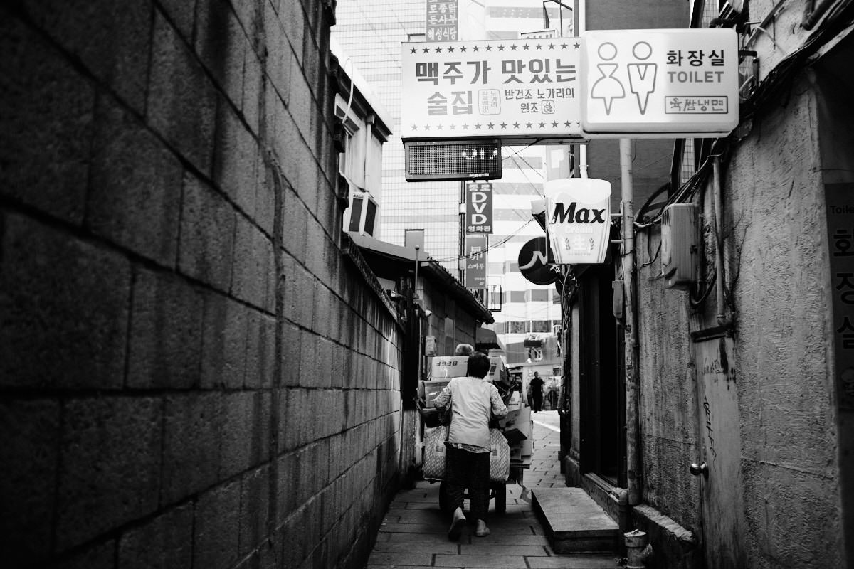 Seoul Street Photography - Garbage Collection