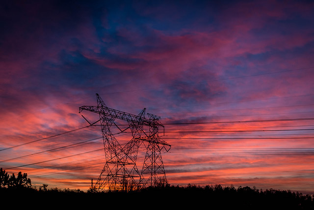 Powerlines and Sunrise
