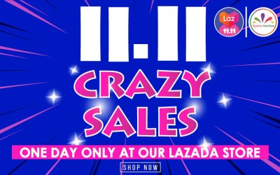 11.11 Crazy Sales – One Day Only at Our Lazada Store
