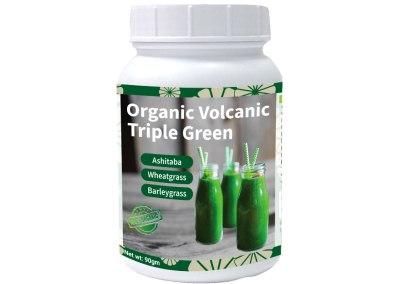 Organic Volcanic Triple Green (Ashitaba, Wheatgrass, Barley Grass)
