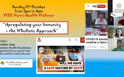 Video: Upregulating your Immunity – the Wholistic Approach
