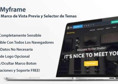 MY FRAME Marcó de Vista Previa y Selector de Temas