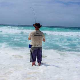 surf fishing, beach fishing, Australia fishing
