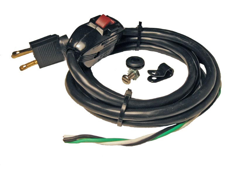 Power Cord & Switch (120 Vac)