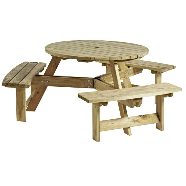 round 6 picnic table, picnic bench, picnic table, outdoor furniture, contract furniture