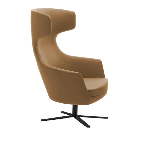 basil wingback hotel or workplace lounge chair