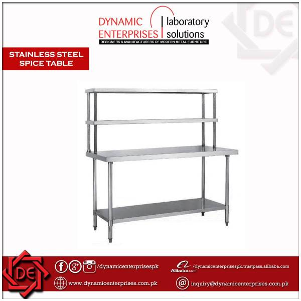 STAINLESS STEEL Spice Table