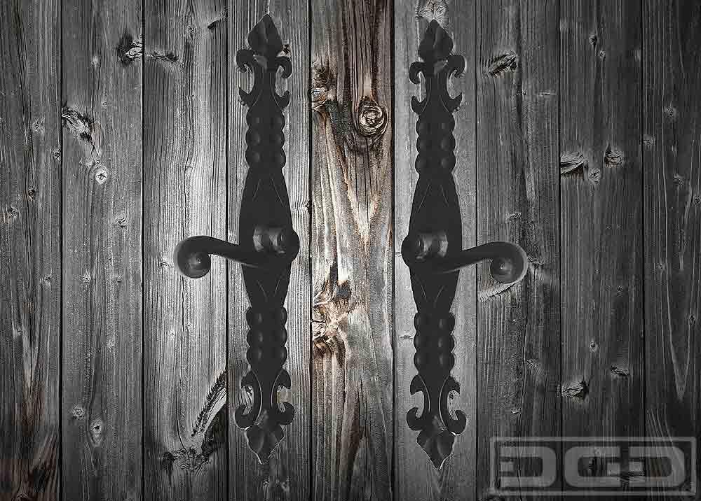 17 Decorative Iron Hardware Dynamic Garage Door