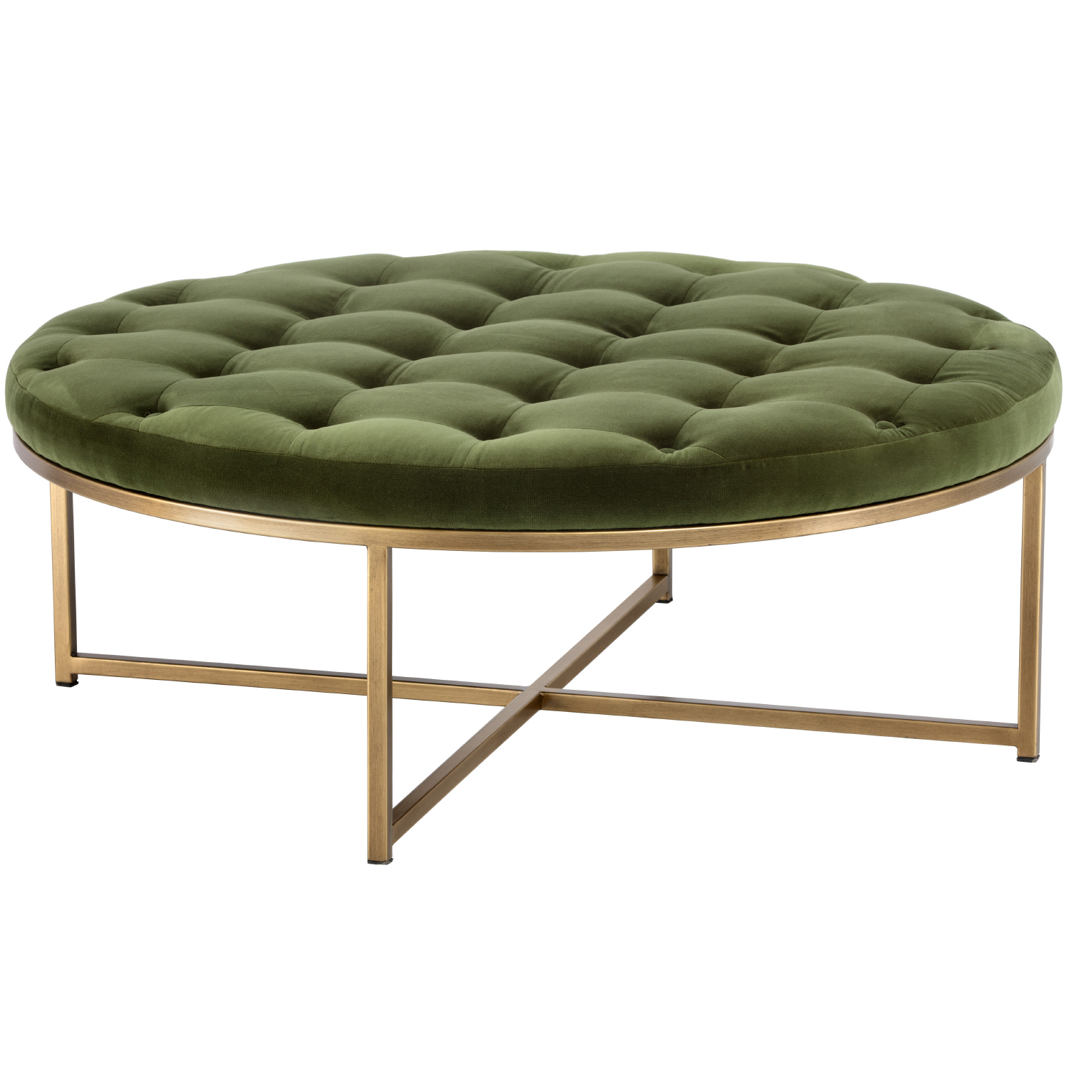 endall square coffee table ottoman in vintage camel leather antique brass by sunpan