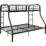 Acme 02043bk Tritan Twin Over Full Bunk Bed In Black Metal