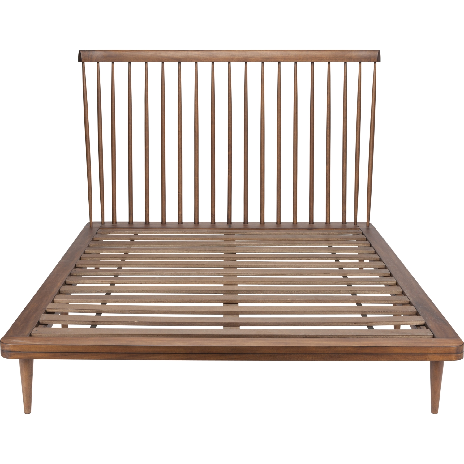 Nuevo Hgst107 Jessika Queen Bed In Walnut Stain W Spindle Headboard