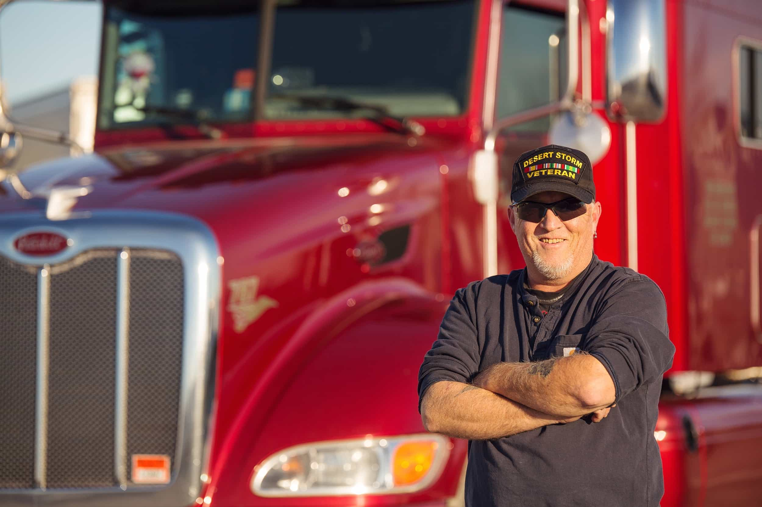 Veteran Truck Driver and His Truck