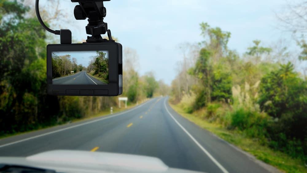 dashboard camera in truck