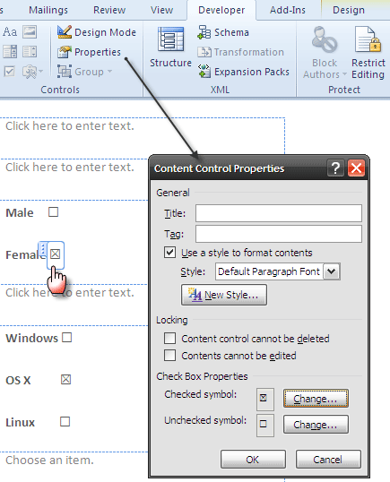 word forms05   Make A Fillable Form In Word 2010 & Collect Data The Easy Way
