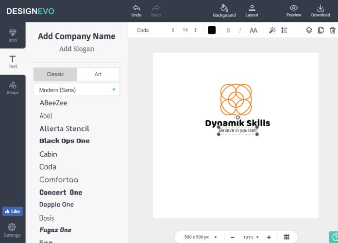 DesignEvo - Text