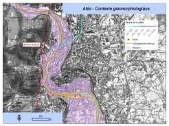 ALES - Plan de gestion : cartographie du contexte géomorphologique