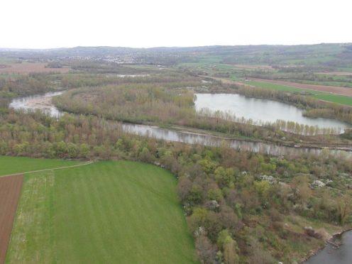 Allier : vue du projet par drone