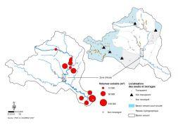 Cartographie des seuils et extractions sur le bassin versant de l'Ardèche