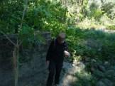 Anaïs dans la gravières au bord de l'Ardèche