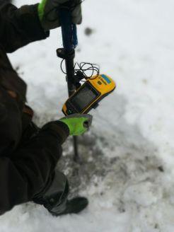 prise d'un point GPS Trimble - Géo7x centimétrique