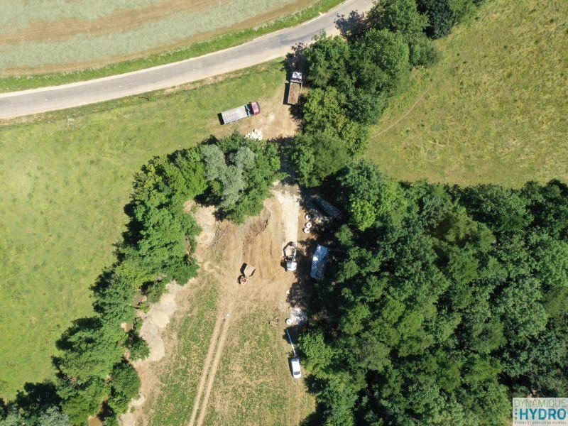 Continuité écologique : vue générale du chantier depuis notre drone MAVICPRO2