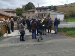 Les élus locaux, les techniciens et les entreprises lors de l'inauguration de la fin des travaux de restauration de la Denante