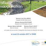 Carton d'invitation pour l'inauguration des travaux de restauration sur la rivière Denante