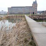 Vue sur la rivière Deule à Lille