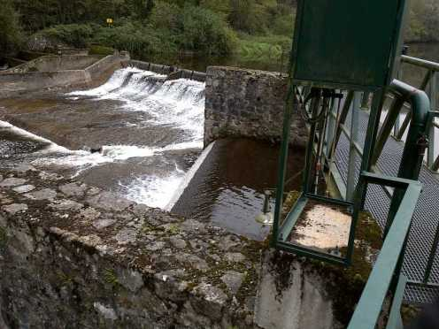 Prise d'eau de Prades sur la Dore