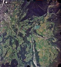 Vue aérienne d'une partie du bassin versant du Giffre