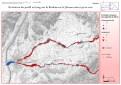 Cartographie SIG sous ArcGis de l'évolution dans le temps des profils en long du bassin versant du Roubion
