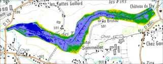 TATTES - Hydrologie : cartographie de l'écart au fil d'eau