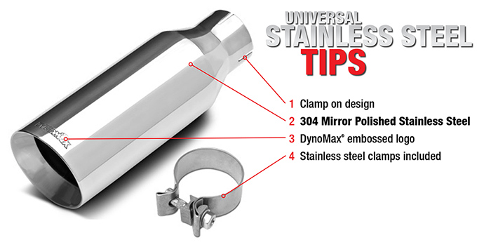 universal stainless steel tips