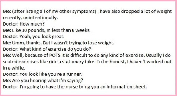 conversation with doctor