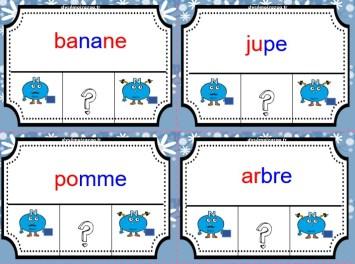 Carte à tâche sur les nature des mots en grammaire 3D : Les verbes