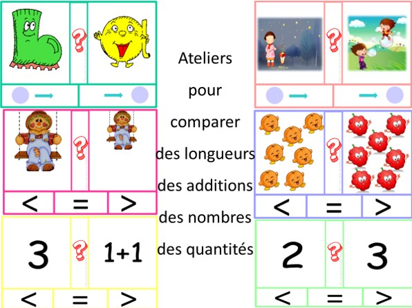 Ateliers plus petit et plus grand en atelier cartes