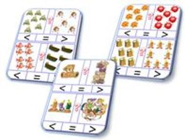 Ateliers plus petit et plus grand en atelier cartes dénombrement